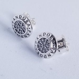 PANDORA Signature Stud Earrings Silver New w/tags